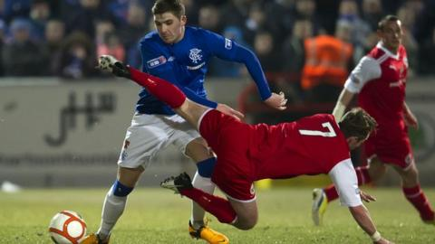 Stirling Albion held Rangers to a 1-1 draw