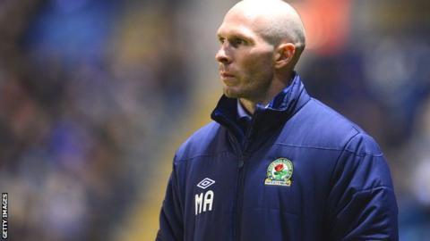 Blackburn Rovers manager Michael Appleton