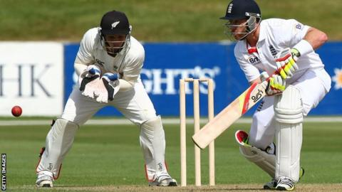 Ian Bell plays through the off side