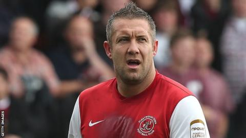 Fleetwood Town striker Jon Parkin