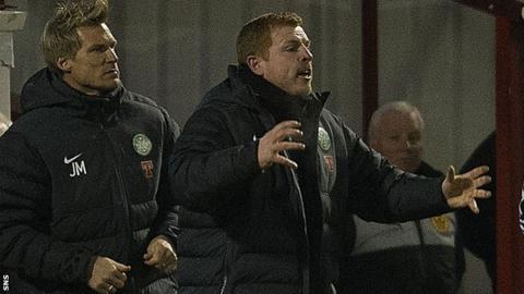 Celtic manager Neil Lennon endured a frustrating night at Fir Park