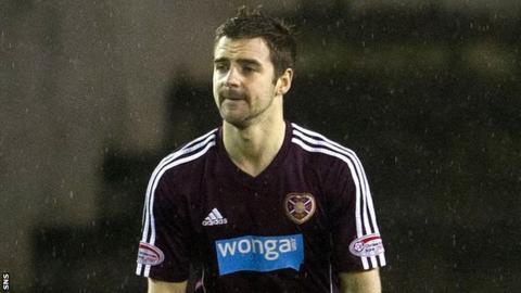 Hearts midfielder Scott Robinson