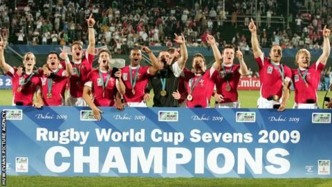 Wales players celebrate in 2009