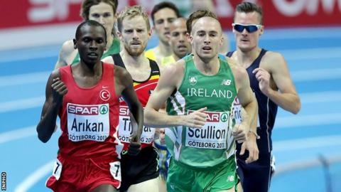 Stephen Scullion led his 3,000m heat at one stage before fading in the closing stages