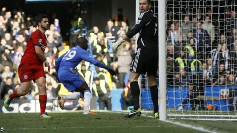 Demba Ba scores for Chelsea