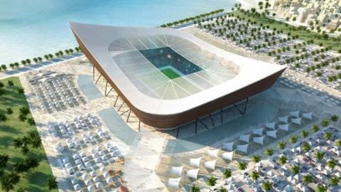 Artists impression of Al-Gharafa stadium