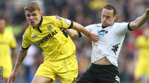 Tranmere Rovers midfielder Max Power