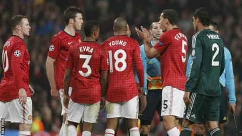 Rio Ferdinand reacts at the end of Manchester United's loss to Real Madrid