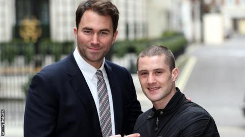 Eddie Hearn and Ricky Burns