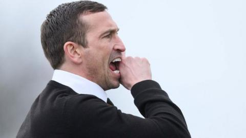 Newport County manager Justin Edinburgh.