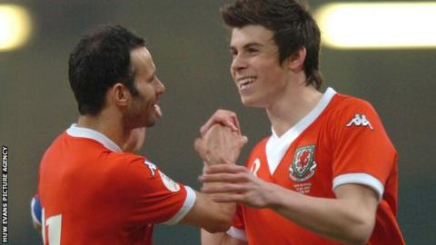 Ryan Giigs and Gareth Bale