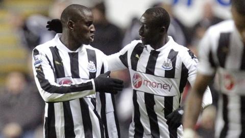 Demba Ba and Papiss Cisse