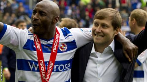 Reading celebrate promotion at the end of last season