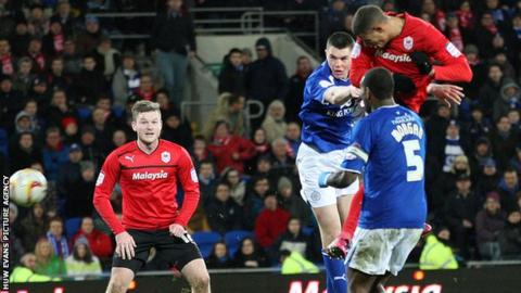 Gestede heads Cardiff City's equaliser