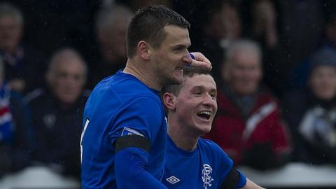 Rangers players Lee McCulloch and Fraser Aird