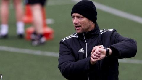 Glasgow City coach Eddie Wolecki Black