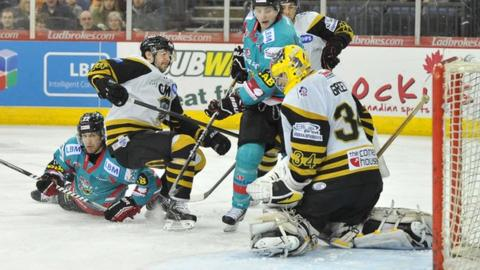 The Belfast Giants beat Nottingham Panthers