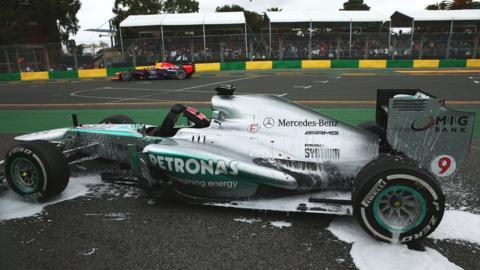 Nico Rosberg's Mercedes car