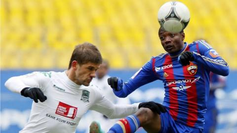Ahmed Musa (right) in action for CSKA Moscow