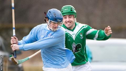 Action from Caberfeidh v Beauly (North Division 1), played at Castle Leod, Strathpeffer