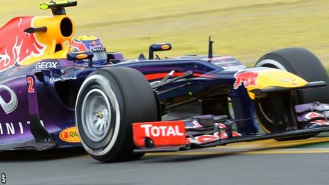 Mark Webber had problems with his Red Bull in the Australian GP