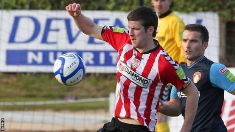 Ryan McBride was on target for Derry City