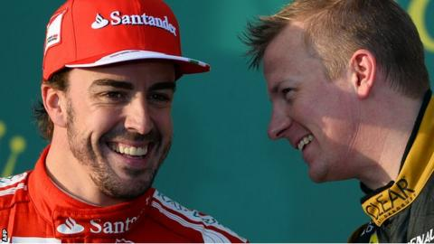 Fernando Alonso and Kimi Raikkonen