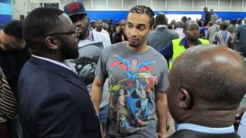 Benoit Assou-Ekotto arrives at Nsimalen Airport, Yaounde