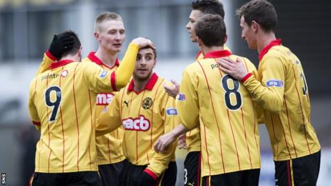 Thistle ran riot against Livingston at Firhill