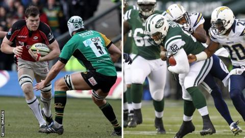 Hayden Smith playing for Saracens and NY Jets