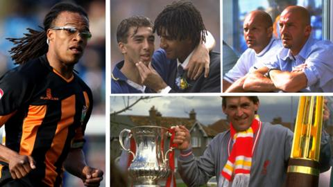 Edgar Davids, Roberto di Matteo and Ruud Gullit, Ray Wilkins and Gianluca Vialli, and Kenny Dalglish