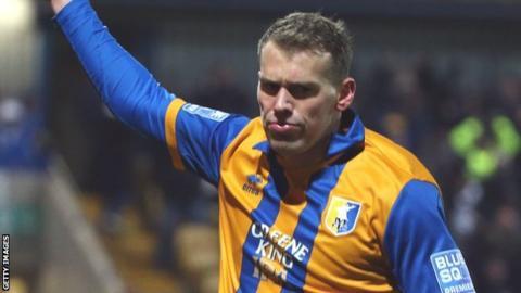Mansfield forward Louis Briscoe