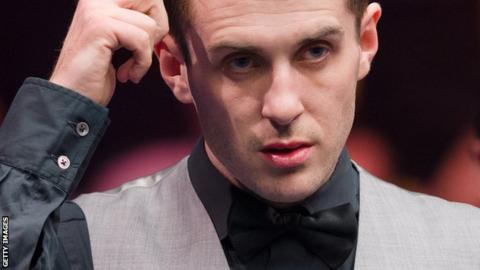 Mark Selby pictured during the Masters in January