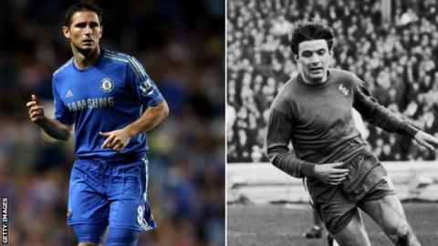 Frank Lampard and Bobby Tambling