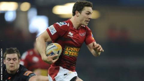 George North bursts clear