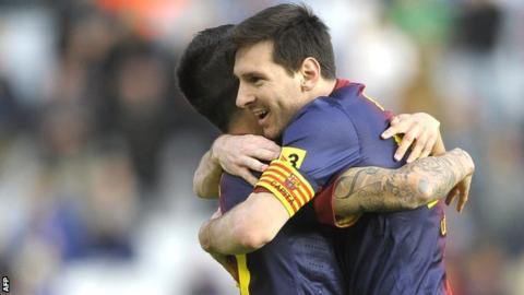 Lionel Messi scores in record 19th consecutive Barcelona game