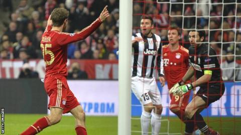 Bayern Munich's Thomas Mueller