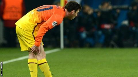 Barcelona's Lionel Messi: Injury suffered against PSG 'not serious'
