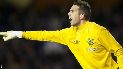 Rangers goalkeeper Neil Alexander