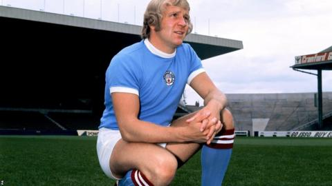 Manchester City's Francis Lee in 1972