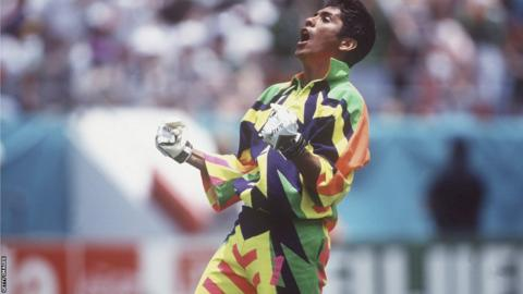 Mexico's Jorge Campos 1994 World Cup