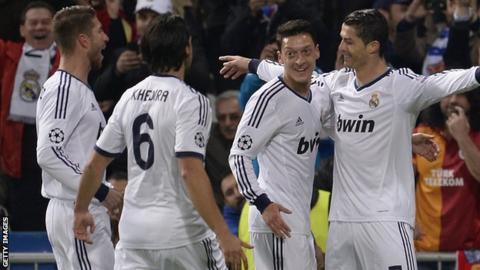 Champions League: Real Madrid 3-0 Galatasaray