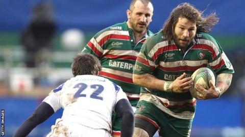 Martin Castrogiovanni in action for Leicester Tigers