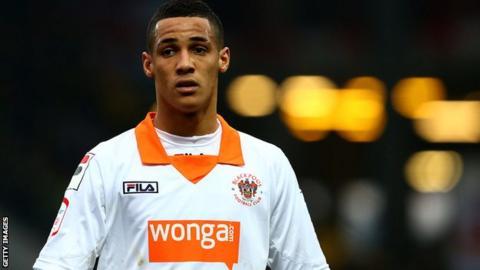 Blackpool winger Thomas Ince
