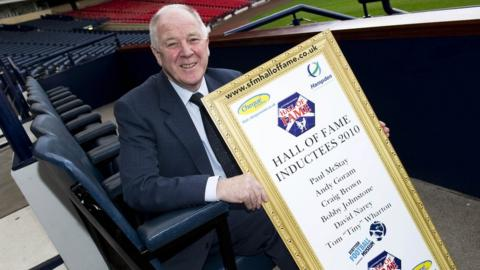 Brown was inducted to Scottish footballs Hall of Fame in 2010