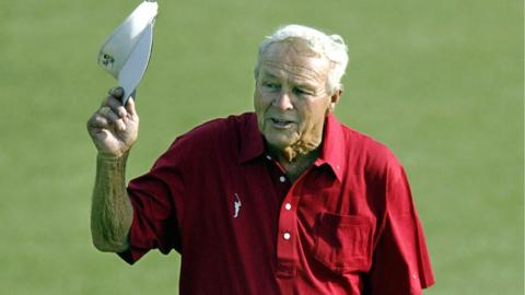 Arnold Palmer in his final Masters in 2004
