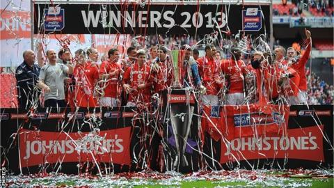 Victorious Crewe Alexandra celebrate at Wembley again