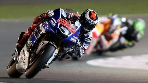Jorge Lorenzo leads in Qatar