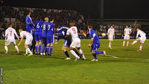 Wayne Rooney scores in San Marino
