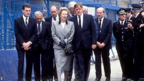 Margaret Thatcher at Hillsborough